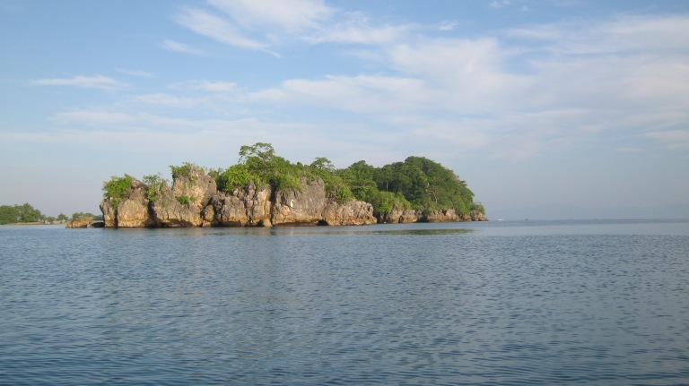 Limestone islets around Guimaras...