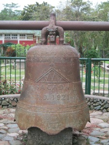 A church bell at St Mary's Church. Most of the people in Sagada are Anglican and they are very good in English.