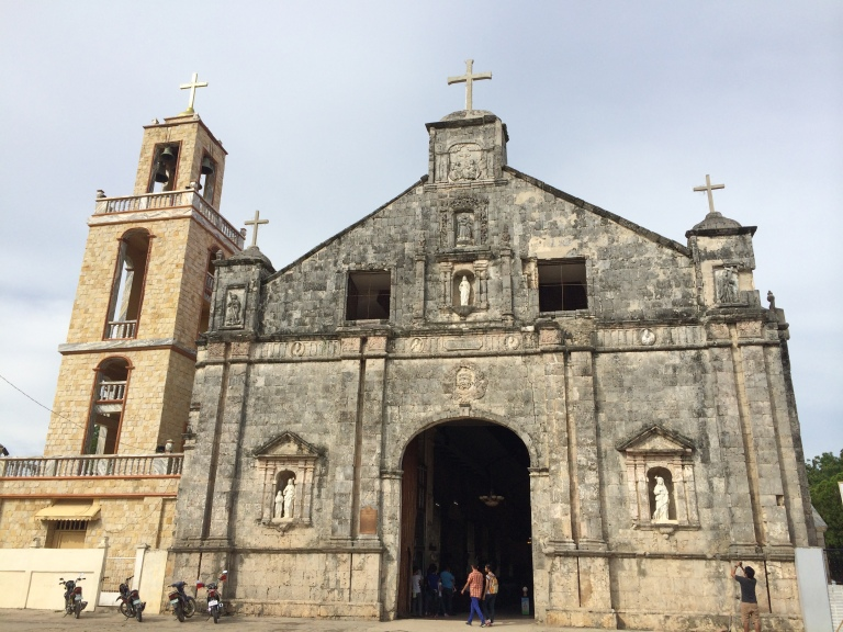 Church of Sts. Peter and Paul, survived the recent earthquake and typhoon is more than 500 years old.