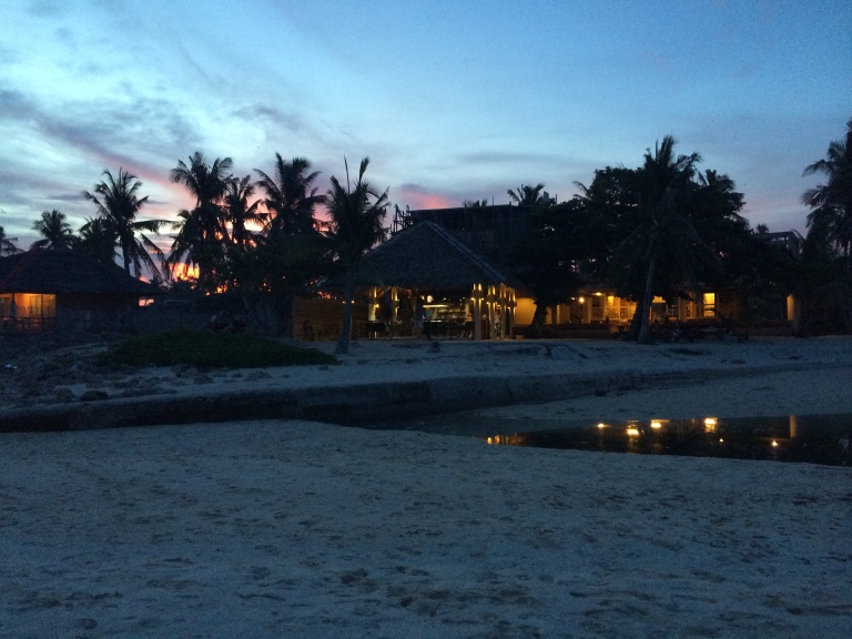Kota Beach at night...