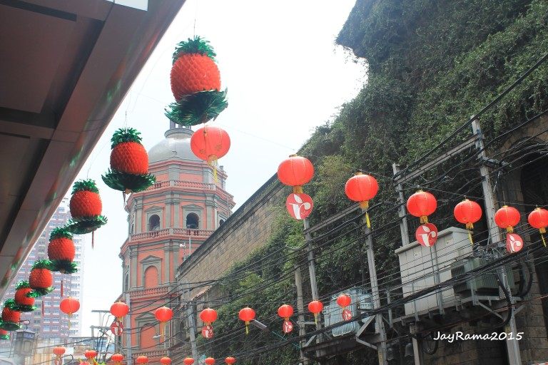 Binondo Church Belfry on the background