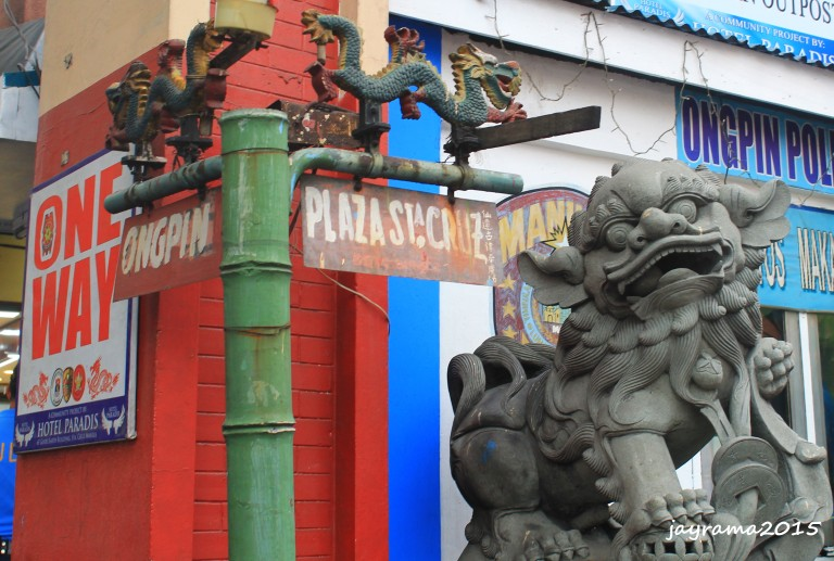 "One of the ""Foo Dogs"" guarding at Ongpin St."
