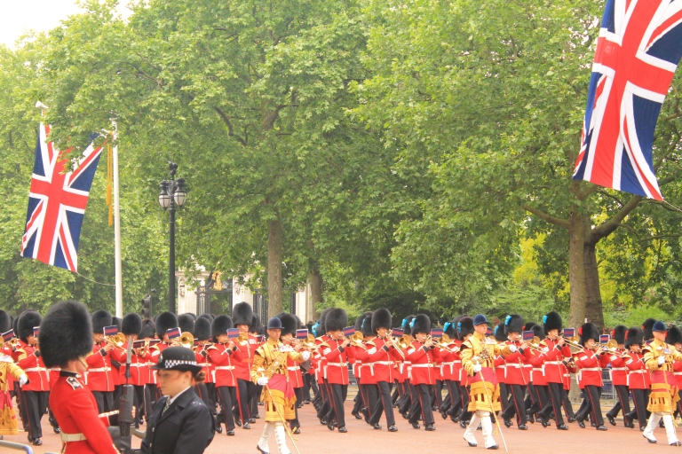 Trooping of Colours brings in band and soldiers for a grand parade